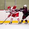 Waltham Boys Varsity Hockey defeated Westford Academy 1-0 on February 13, 2015 at Veteran's Rink  in Waltham, Massachusetts.