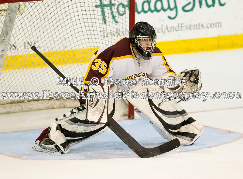 """Weymouth defeated Hingham 4-3 in their MIAA Super 8 round robin game on March 5, 2010, at Merrimack College in North Andover, MA.<br /> <br /> *****************<br /> All pictures available at  <a href=""""http://www.MaxPreps.com"""">http://www.MaxPreps.com</a><br /> Search by school name: """"Weymouth""""<br /> *****************"""