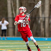 Boys Varsity Lacrosse: Reading defeated Wilmington 14-2 on April 12, 2018 at Wilmington High School in Wilmington, Massachusetts.