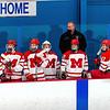 Boys Varsity Hockey: Winchester defeated Melrose 5-1 on February 17, 2021 at Stoneham Arena in Stoneham, Massachusetts.