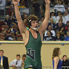 Norman North's Levi Berry celebrates winning  the 160 pound match in the OSSAA 6A State Wrestling Finals at the State Fair Arena in Oklahoma City.<br /> Kyle Phillips/The Transcript