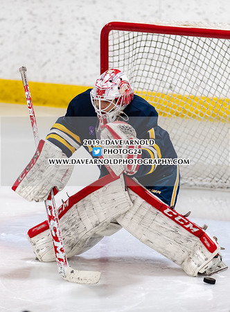 Boys Varsity Hockey: Xaverian defeated Belmont 3-0 on January 21, 2019 at the O'Brien Arena in Woburn, Massachusetts.
