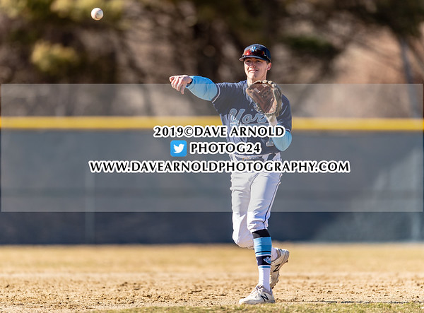 Varsity Baseball: York defeated Yarmouth 7-1 on April 10, 2019 at York High School in York, Maine.
