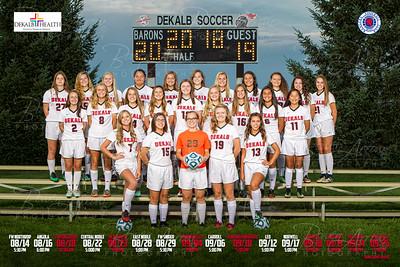 Dekalb Girls Soccer Poster Front