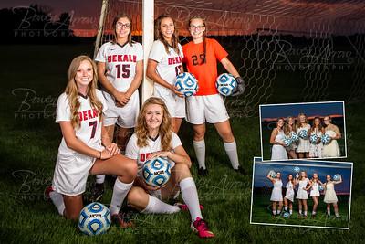 Dekalb Girls Soccer Poster Rear