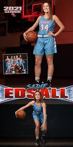 Girls BBall Sadie Edsall Banner