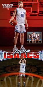Boys BBall Colton Isaacs Banner