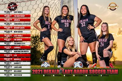 Dekalb Girls Soccer 2021 Poster Front 01