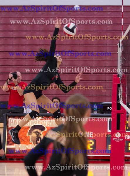 Varsity Volleyball held at Home,  Arizona on 9/7/2015.