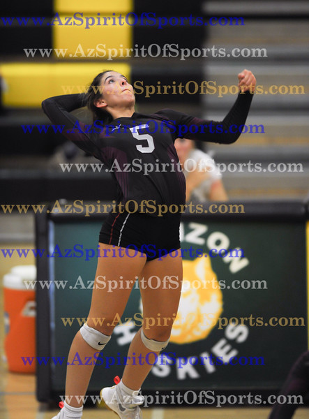 Volleyball held at Home,  Arizona on 10/16/2017.