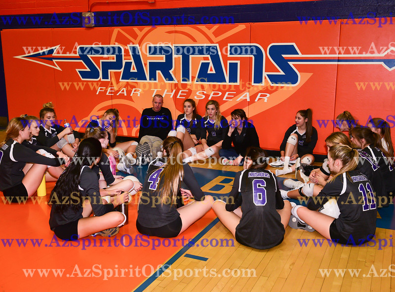 Volleyball held at Home,  Arizona on 11/3/2017.