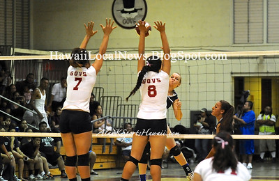 "09-04-12 Moanalua Girls ""vs"" Farrington Governors (Varsity 21-25 25-18 13-15 Blue 25-16 19-25 15-12 )"