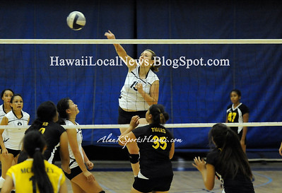 "09-18-12 Moanalua Girls Volleyball ""vs"" McKinley Tigers (Varsity 25-20 25-14 Blue 25-15 25-9 JV 25-17 25-14)"