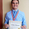 Matthew Broussard, a senior at IMPACT ECHS, receives the Dorothy Cooke Hayes award for Outstanding Second Year Honors Student at the recent 2016 Lee College Presidential Honors Day Ceremony.