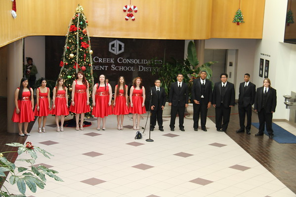 GCM Choir performs at the Administration Building