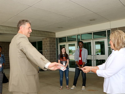 Baytown Nissan gives away a car to a GCM Student
