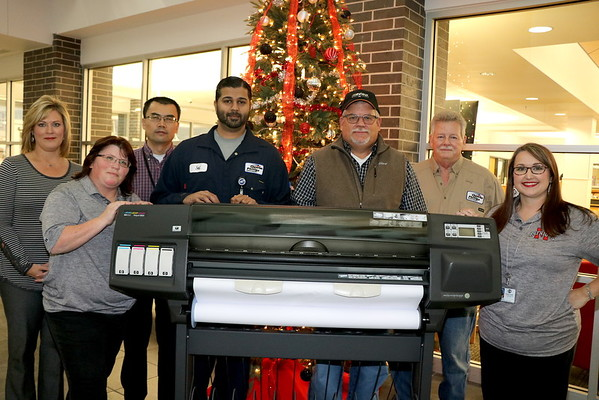 Chevron Donates a large format printer GCM