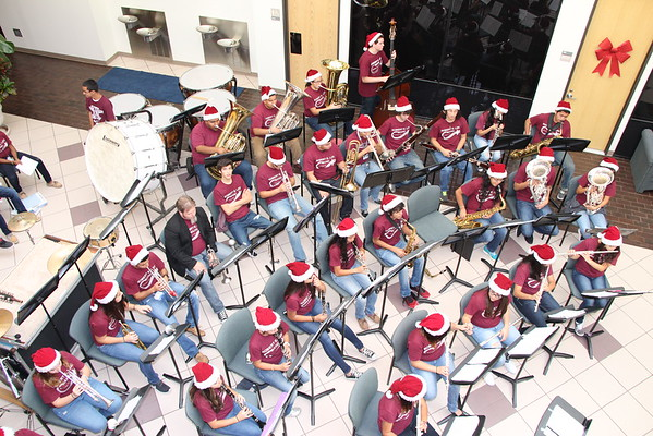 REL Band performs at Administration Building