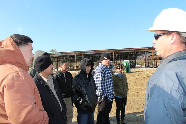 Construction Class tours Elem #3 site