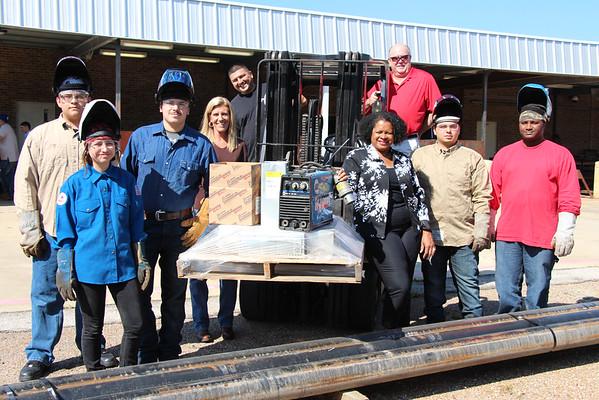 Fluor donate equipment to Stuart Career welding program 2014