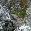 Ascending through the Bondcliff Chimney