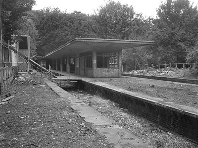 A shot of the abandoned station with the lines removed.