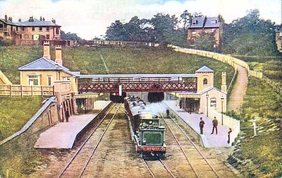 This is how the station looked before the planned upgrades..a bridge connecting both platforms
