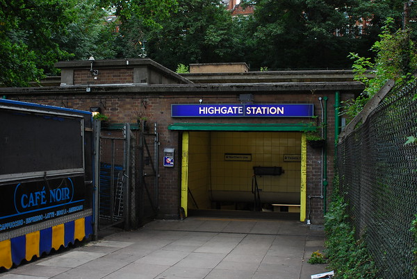 Our entrance to the old station