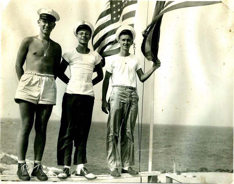 Sandlass Beach Club, foot of Sandy Hook, NJ circa 1945, despite the similar look, this is not Iwo Jima