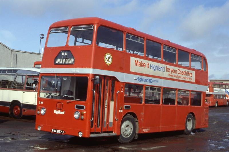 Highland D30 Seafield Depot Inverness Mar 85