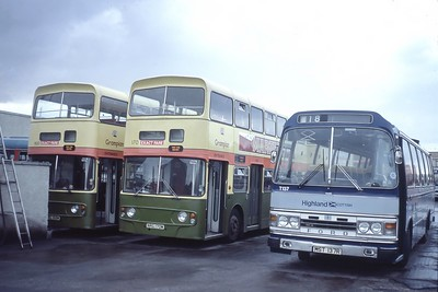 Highland A3_A5_T137 Seafield Depot Inverness Jul 84