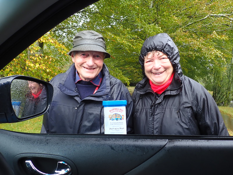 A delightful couple on the road to Kingairloch