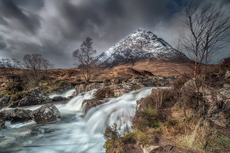 Buachaille Etive Mor Waterfalls, Glencoe, Scotland