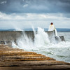 Burghead Pier Battered by the Sea