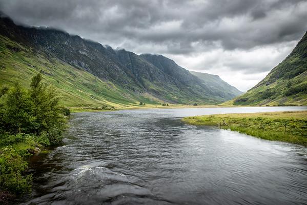 Loch Achtriochtan Beneath a Stormy Sky