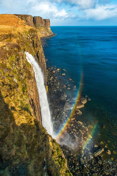 Double Rainbow at Kilt Rock Waterfall
