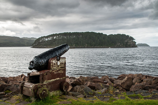 Cannon at Shieldaig