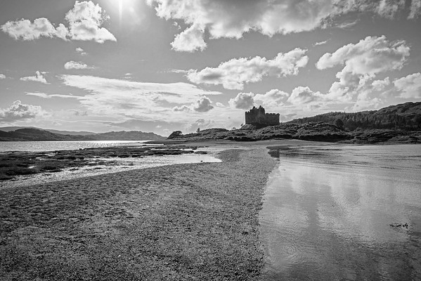 Castle Tioram in Black and White