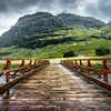 The Red Bridge in Glencoe