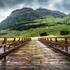 The Red Bridge in Glencoe