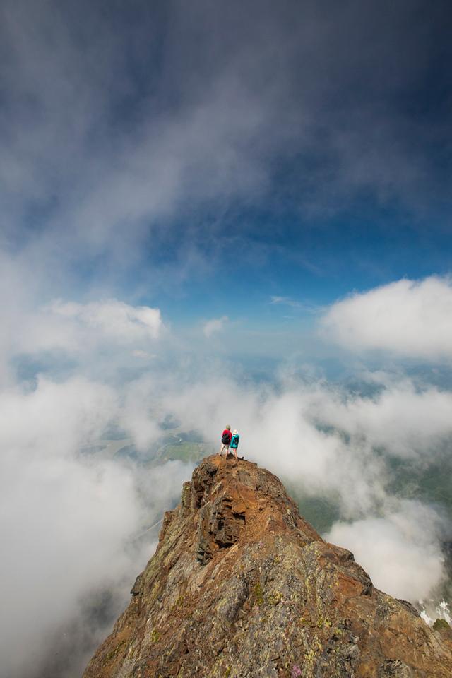 Hiking Cheam Peak, British Columbia, Canada.