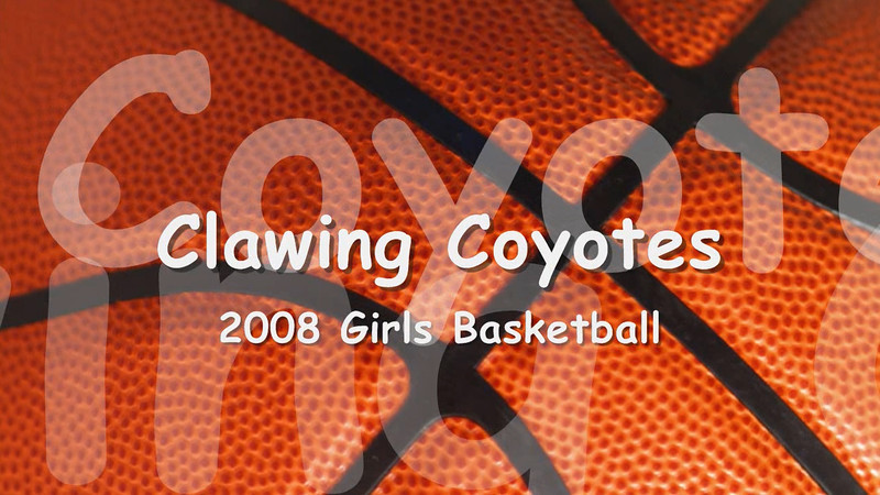 Clawing Coyotes 2008<br /> Girls U9 Rec Basketball