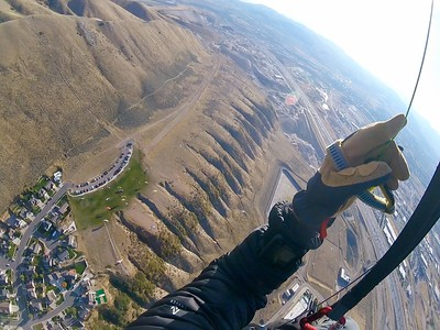 Waaaaay above the upper ridge!