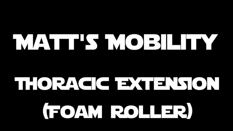 Thoracic Extension Foam Roller