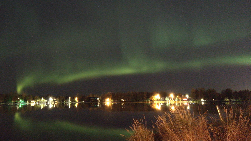 The aurora borealis in Anchorage, by 2017 participant Mary Trombley.