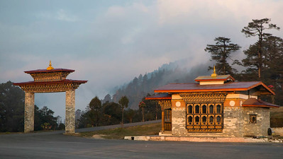 DoChu La (10,000') above the capital of Thimphu. Photo by guide Richard Webster.