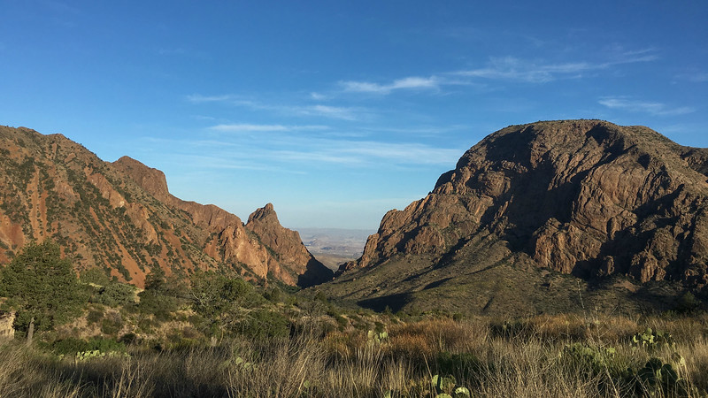 Big Bend view: Chisos Basin, by guide Doug Gochfeld