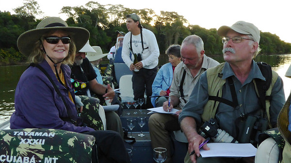 Late-afternoon checklist session on the boat, by participants David & Judy Smith.