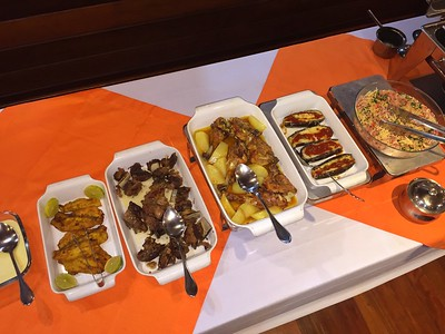 The food is delicious, and the menu nicely varied. Most of the vegetables are grown organically by residents of Barra de São Manoel.