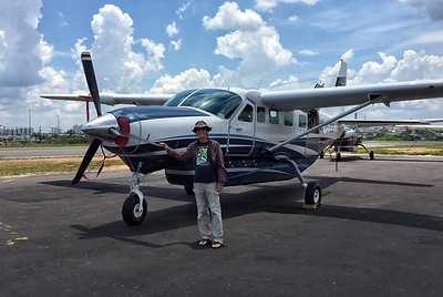 Bret Whitney with the Grand Caravan that we typically charter from Manaus to Barra de São Manoel. This plane, with nice, clean windows under the wings, is just right for our small group.